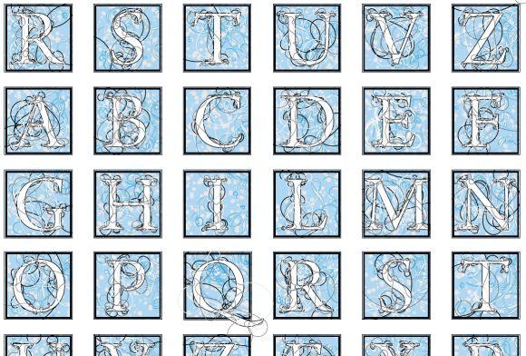 Digital font samples