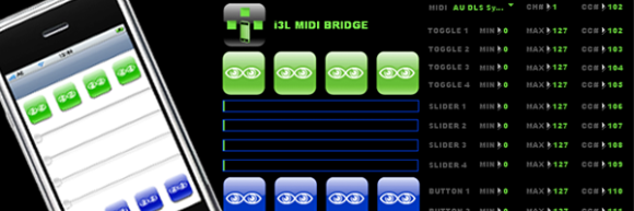 i3L MIDI bridge for iPhone and iPod Touch
