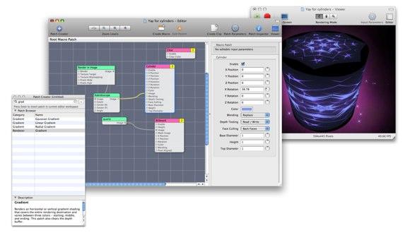 Quartz Composer interface