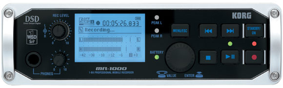 Korg MR-1000 portable hard drive recorder