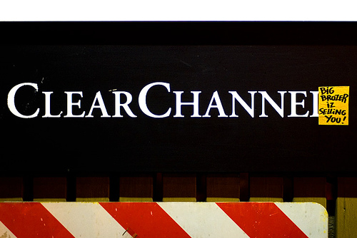 Clear Channel sign