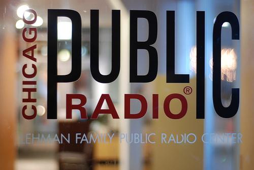 Chicago Public Radio window