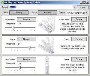 Free Wii Drum Machine for Windows Update, Plus Wii in  Net and Java