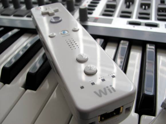 Wii remote as music controller