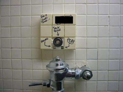 Urinal sound graffiti machine