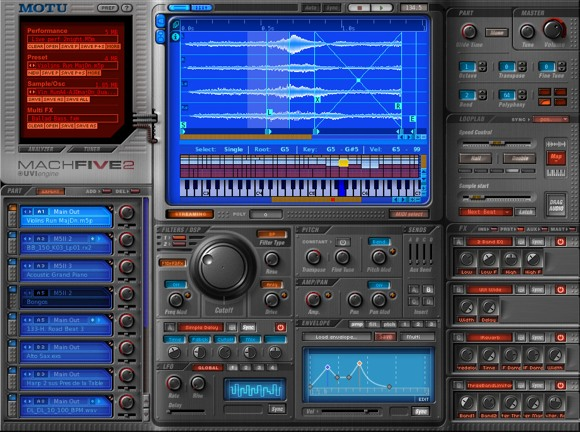 MOTU MachFive Software Sampler for Mac and Windows