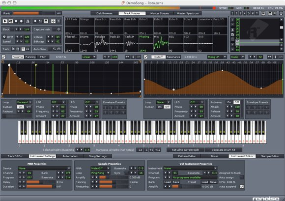 Renoise music tracker for Mac and Windows