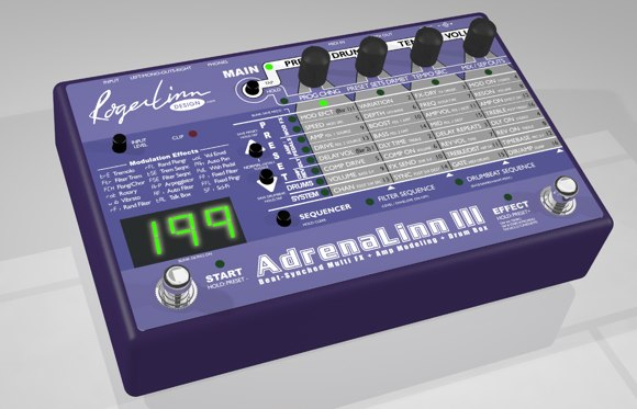 AdrenaLinn III guitar effects and amp modeling