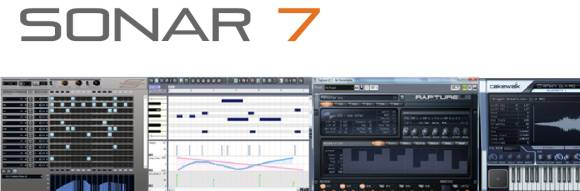 SONAR 7 logo and screen shots