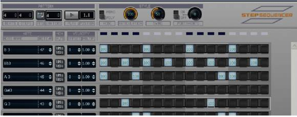 SONAR 7 step sequencer