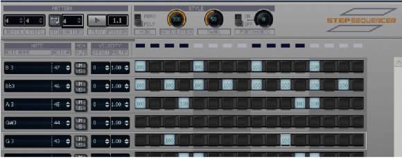 SONAR 7 step sequencer