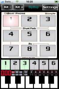 BeatPhone, drum machine for iPhone
