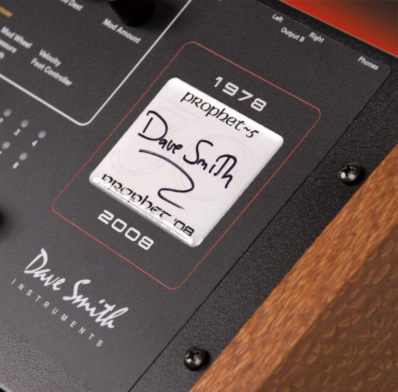 Dave Smith signature on Prophet 8
