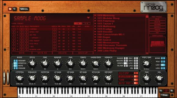 IK Multimedia Moog screen shot