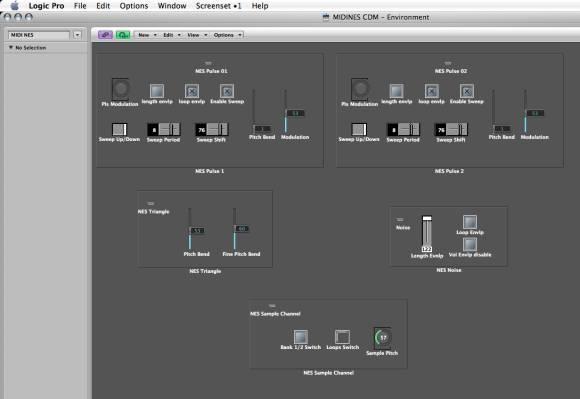 MIDI NES environment in Logic 8