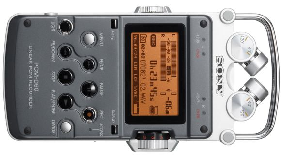 Sony mobile recorder hardware PCM-D50