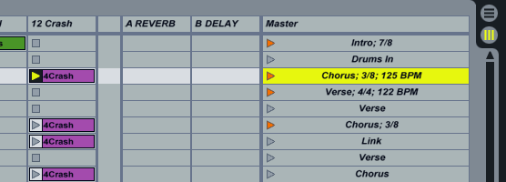 Time signatures in Live