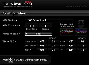 Wiinstrument config