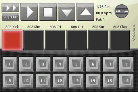android drum machine sequencer