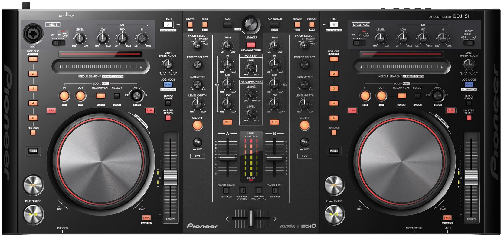 virtual dj controllers new hardware for serato traktor from pioneer numark cdm create. Black Bedroom Furniture Sets. Home Design Ideas