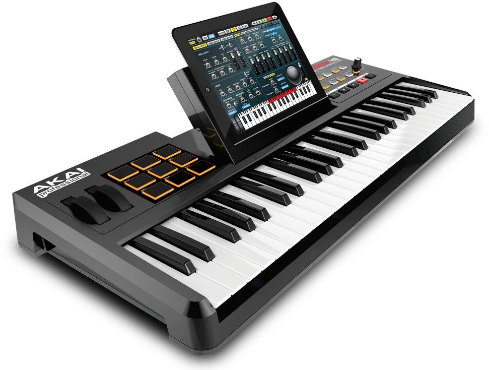 akai turns an ipad into a full sized music keyboard akai synthstation49 cdm createdigitalmusic. Black Bedroom Furniture Sets. Home Design Ideas