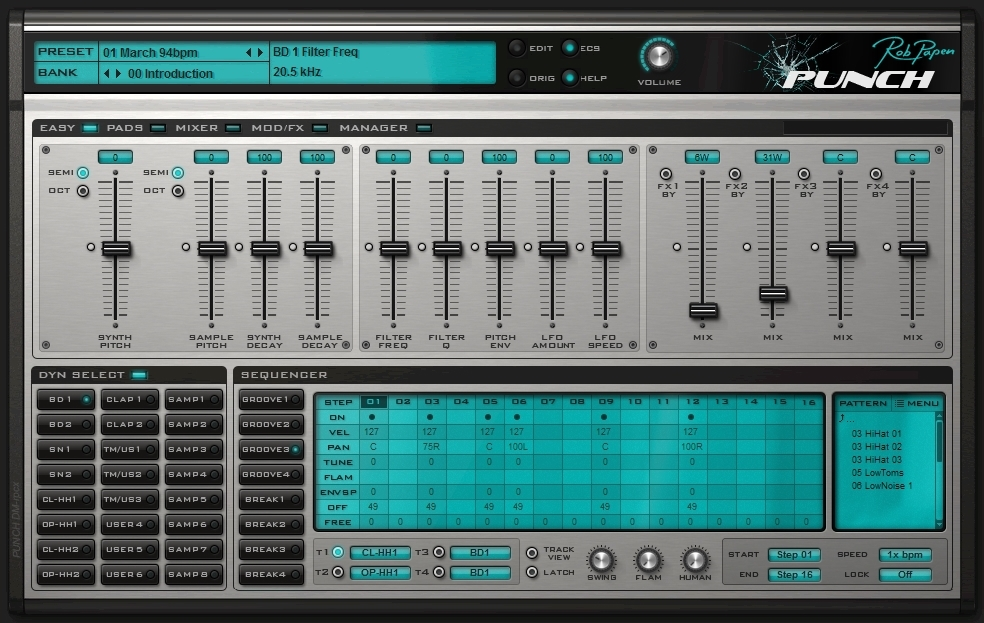 rob papen punch sample synth drums now shipping software drum machine scene looking hot cdm. Black Bedroom Furniture Sets. Home Design Ideas