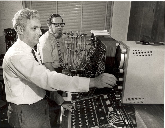 With Herb Deustch, in 1963, also from the Bob Moog Foundation.