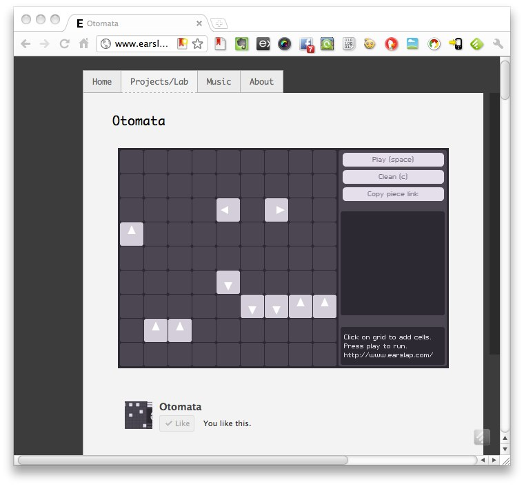 Otomata, A Generative Online Sequencer; Apps Versus Web