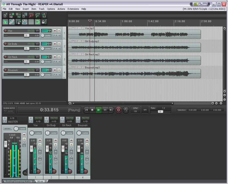 Reaper 4 Arrives, Brings Improved UI, Surround, Batch and