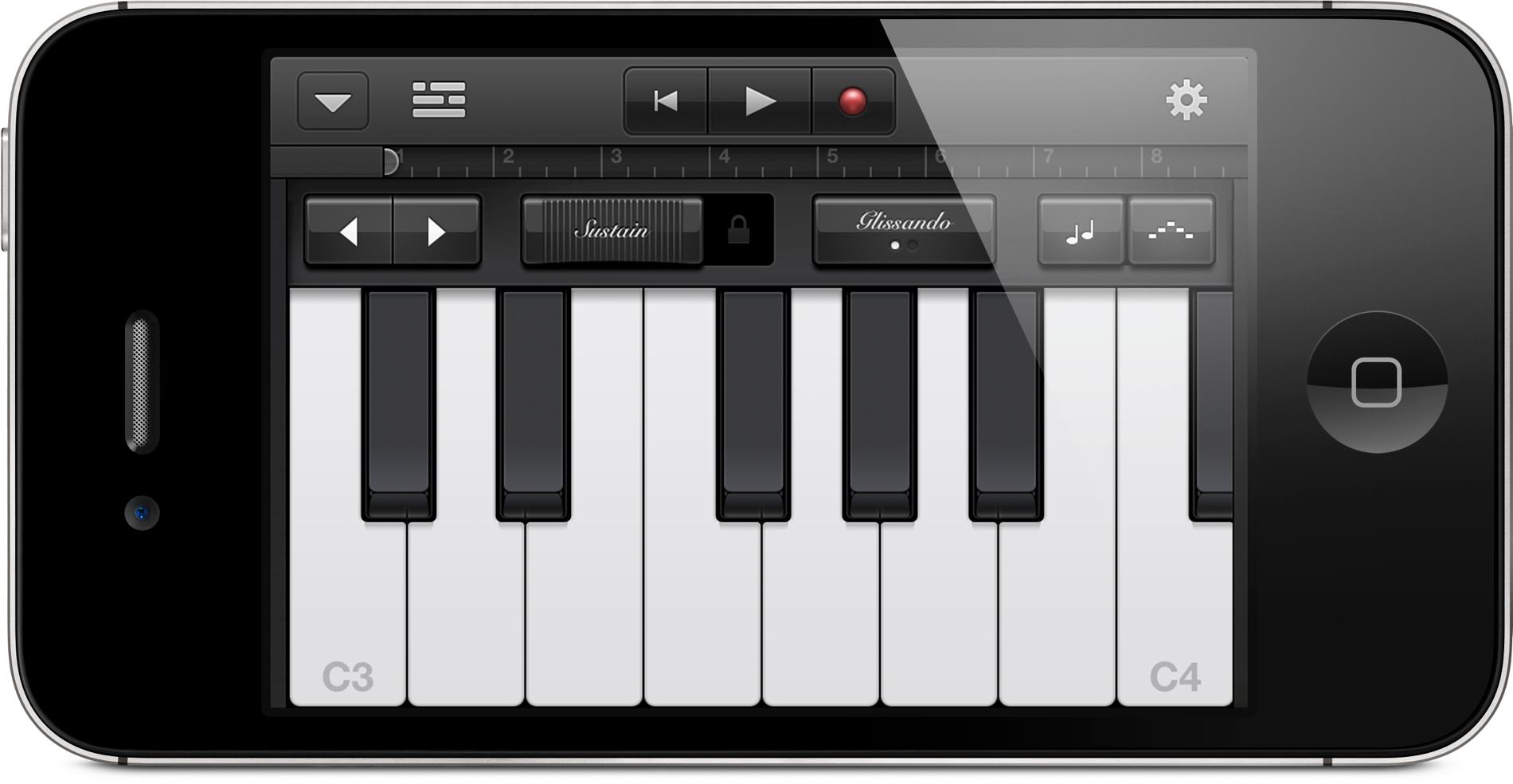 Handheld garageband apples mobile music maker on iphone ipod apples garageband music creation and amp simulation on ipad is now also on the companys handhelds with iphone 3gs 4 4s and ipod touch 3rd generation baditri Images