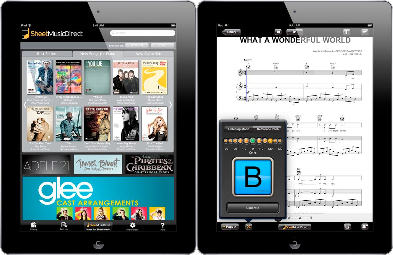 Avid's iPad Notation Reader: Now with Sheet Music Store ...