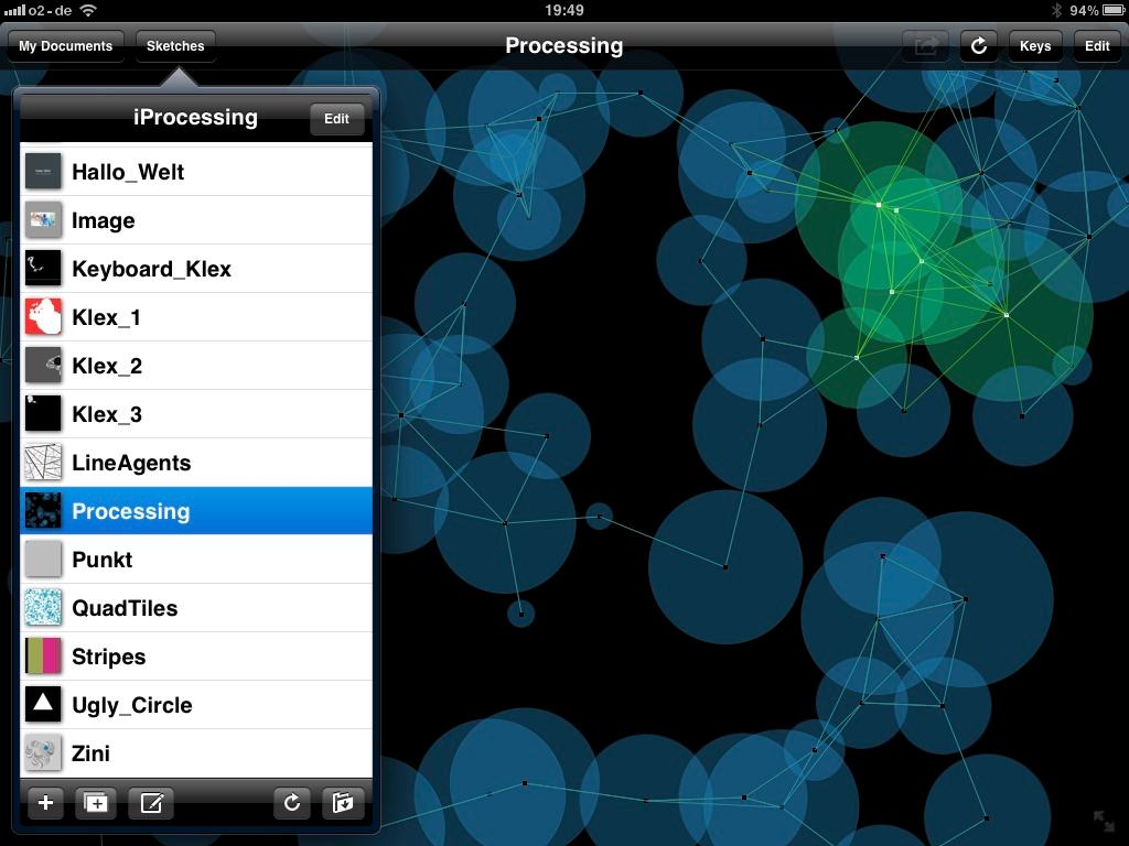 Visual Code Sketching, to Go: Processing on the iPad, iPhone