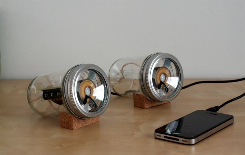 Fab Speakers: Open Source Portable Speakers, Online and in Glass Jars  [Gallery] - CDM Create Digital Music