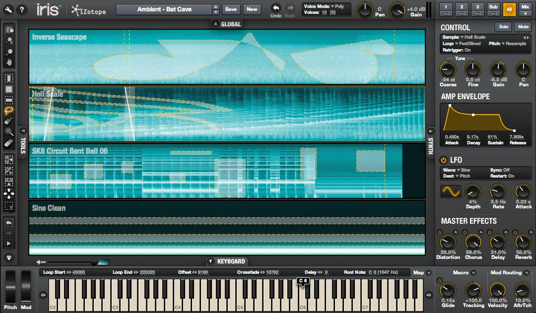 iZotope Iris: Paint with Spectra, Make a Real-Time Synth
