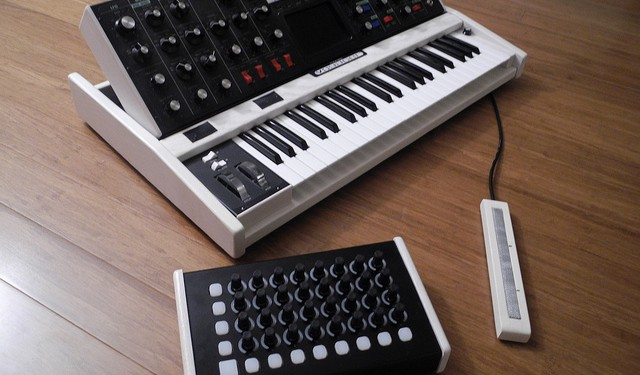 Control from your [Livid] Code, without [writing] code. And that's an excuse to show this beautiful custom Livid Code controller, one of a number of devices from Akai, Livid, and Korg supported with this powerful tool.