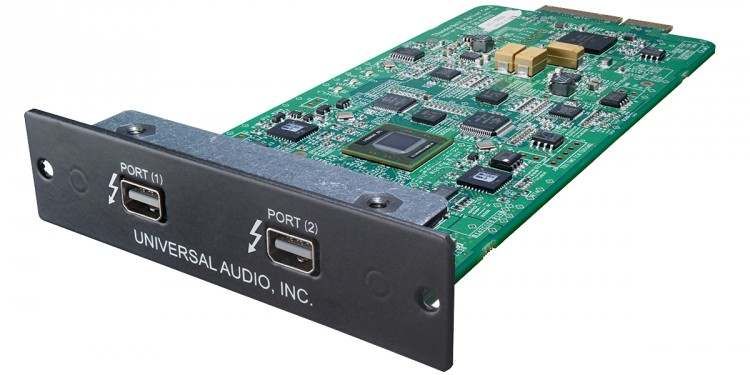 Thunderbolt means serious I/O for UA's DSP-based processing on the Apollo card - even on a lowly Mac mini. Image courtesy Universal Audio.