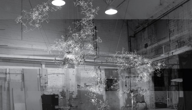 Mark Fell investigates nanostructures and dancing particles. A visual reveals some of those Brownian Motion-produced forms. Photo courtesy Mark Fell.