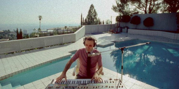 """I don't always make music by the pool, but when I do, I use Roland."" Like a boss: Giorgio Moroder."