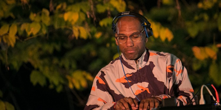 King Britt, performing in the garden. Photo:
