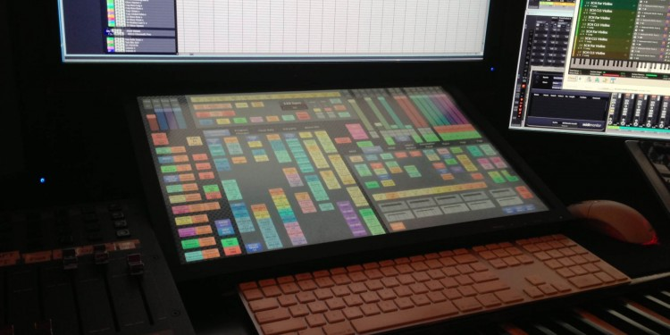 Not available in stores: the custom touchscreen solution, running an original sampler, that turns Hans Zimmer's musical ideas into reality. Mark Werry is the person who made it all possible.
