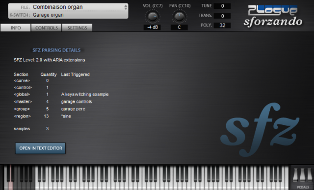 Software Instruments, Freed From Sampler Formats: SFZ, Free