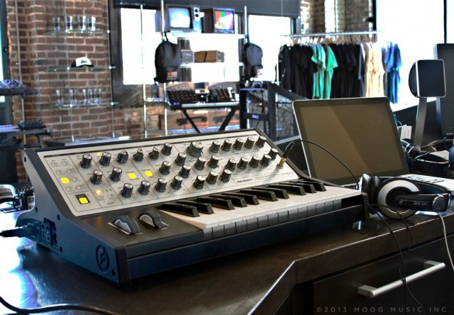 Sub Phatty in the Moog Store, North Carolina. Unreleased photo courtesy Moog.