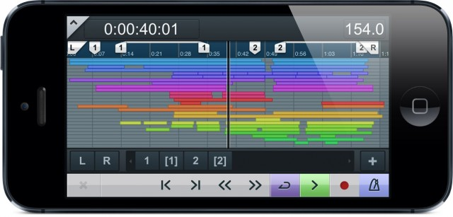 Even on iPhone, a powerful way to navigate your arrangement and markers, trigger custom shortcuts and macros, and even control separate cue mixes. Images courtesy Steinberg.