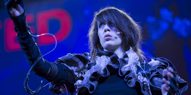 In Berlin, musicians and creators gather to work collaboratively on new means of creation and performance. Imogen Heap and her team are among the participants, presenting an interactive workshop on wearable tech. Photo from TEDGlobal 2012 in Edinburgh, by James Duncan Davidson.