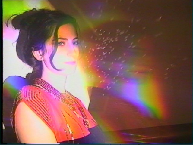 Brooklyn-based filmmaker and visualist Aurora Halal mixes a range of digital and analog techniques in live shows, music videos, and av collabs. Photo courtesy the artist.