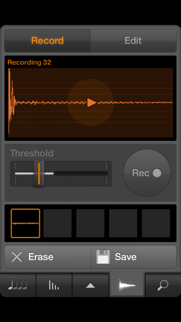 Sampling features, copied from the desktop software, set iMaschine apart.