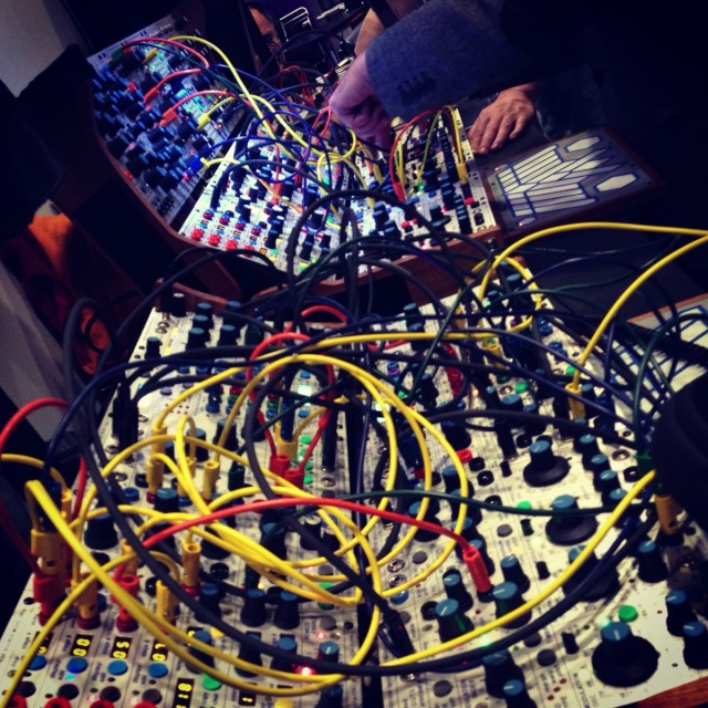 ALEX4's sprawling Buchla display was a crowd pleaser.