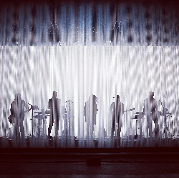 Enveloped by a sculptural projection of light, the band performed amidst a shimmering visual spectacle. Photo courtesy the artists; check out their Instagram.