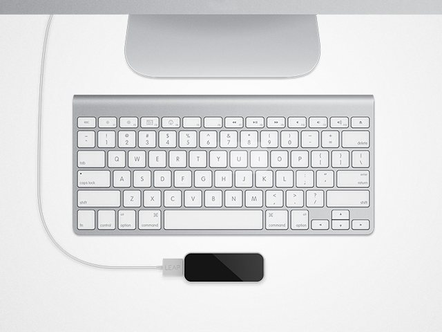 The unobtrusive Leap Motion hardware. Courtesy the manufacturer.