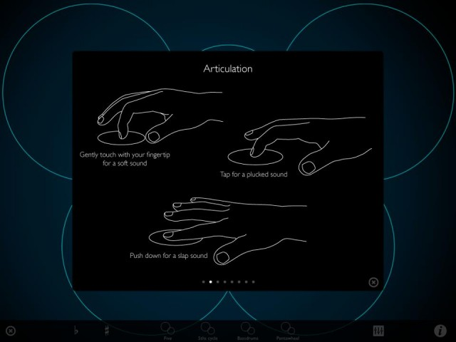 Orphion cleverly uses gestures and finger position to add articulation, where the iPad glass otherwise would not do so.